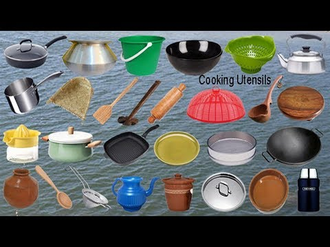 Kitchen Utensils Names Meaning & Picture | থালা বাসুনের নাম | English Necessary Vocabulary
