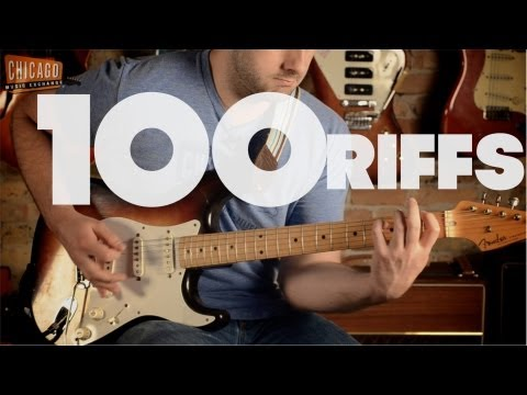 100 famous Guitar Riffs in 1-Take.