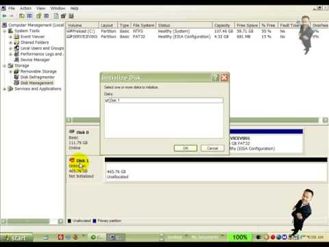 Create Format Partition on Maxtor External Drive OneTouch4