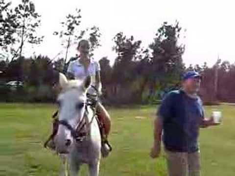 Jenna riding a horse