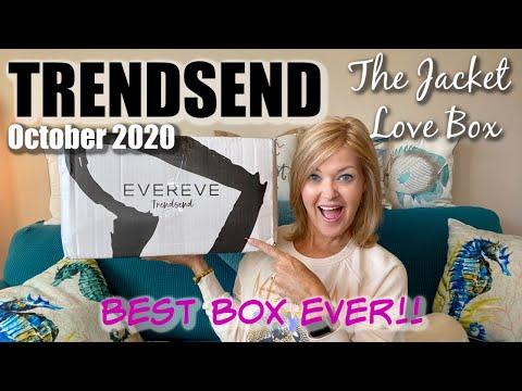 Trendsend | October 2020 | The Jacket Love Box - BEST BOX EVER!! видео