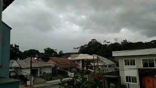 Time-lapse início da chuva