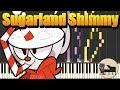 Sugarland Shimmy  [Piano Tutorial] (Synthesia) HD Cover