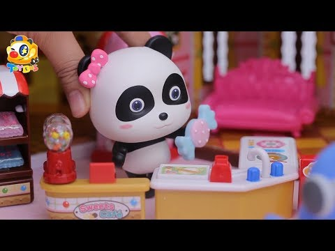 Baby Panda Makes Colorful Candies  Yummy Candy House  Play Doh for Kids  Toy Story  ToyBus