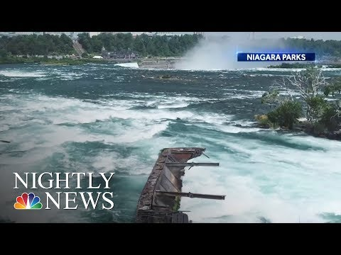 Boat Stuck At Niagara Falls For More Than 100 Years Comes Loose  NBC Nightly News