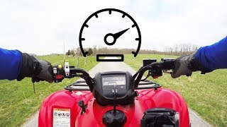 7. HONDA RANCHER TOP SPEED RUN