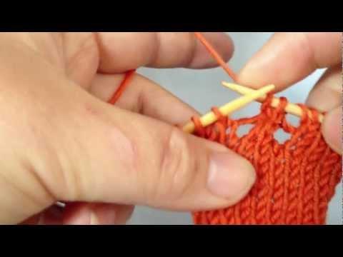 Stricken lernen – 3 Maschen mit Mittelmasche zusammen stricken