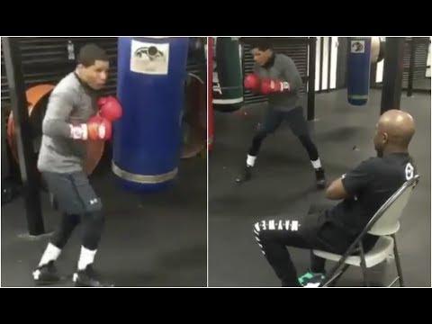 Gervonta Davis Gets Schooled By Floyd Mayweather Before Jesus Cuellar Fight