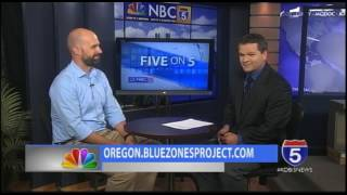 On Tonight's Five on 5, we are joined by Aaron Patnode, the Executive Director of the Blue Zones Project Oregon discussing about healthy choices within the community. For More Information:http://oregon.bluezonesproject.com/
