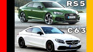 Audi RS5 vs Mercedes C63 S Coupe