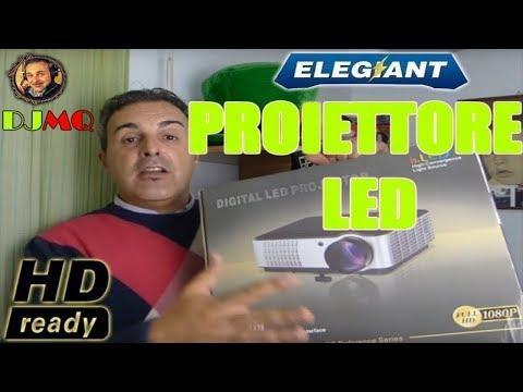 🎬AMAZON►Proiettore Elegiant HD 2800 LUMEN (recensione ITA)