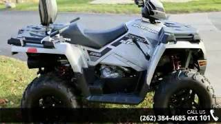 4. 2017 Polaris Sportsman Touring 570 SP Silver Pearl  - Act...