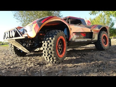 RC ADVENTURES - Project LARGE 2.0 - First Start, Engine Break-in & Track - Custom Losi 5ive T 4x4