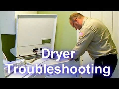 Dryer Troubleshooting – Not Drying or Taking a Long Time to Dry