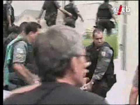 Helicóptero de la policía derribado por delincuentes