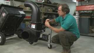 DR Power Equipment engineer assembling Leaf and Lawn Vacuum Vac Cart and Power Unit