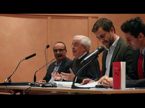 Antoni Comín i Luis López van presentar 'La salut espiritual', de Ramon M. Nogués