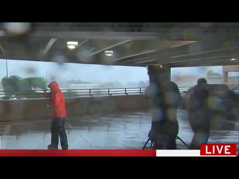 Anatomy of a Hurricane Reporting Scene on TV | MSNBC