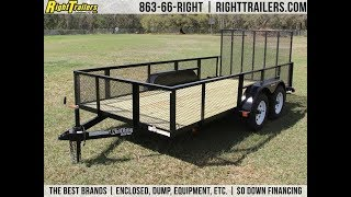 3. 6x14 Red Hot Trailers | Utility Trailer [Mesh Sides]