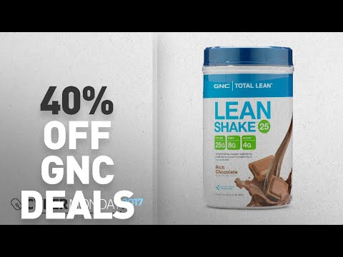 Cyber Monday 40% Off GNC Deals: GNC Total Lean Shake - Meal Replacement, Lean Muscle Tone, Healthy