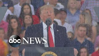 Trump's 'Salute to America' goes on despite heat and rain storms