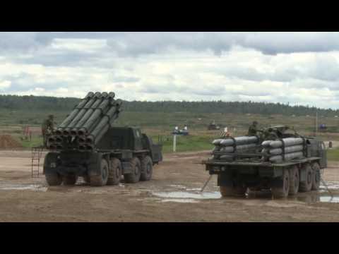 Демонстрационный показ боевых возможностей современной военной техники стоящей на вооружении РФ - DomaVideo.Ru