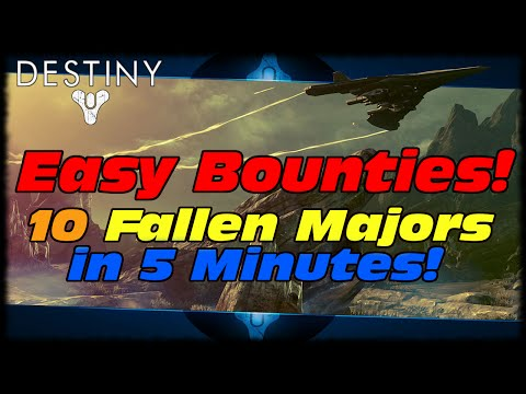 minutes - This Destiny video will show you how to farm 10 Fallen Majors in under 5 minutes & a nice area for easy farming of reputation and public events for vanguard marks! Click Here To Learn More...