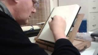 Nautilus Shell ballpoint pen drawing.