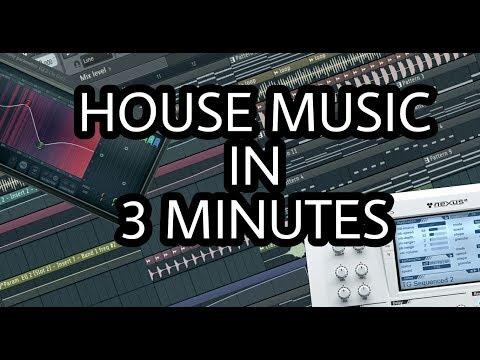 MAKE HOUSE MUSIC IN 3 MINUTES [FL STUDIO]