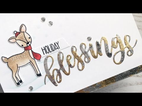 How to Create a Card with Gilding Flakes