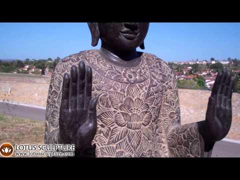 Double Abhaya Stone Buddha 61