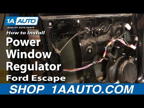 How To Install Replace Front Power Window Regulator Ford Escape Mercury Mariner 01-07 1AAuto.com