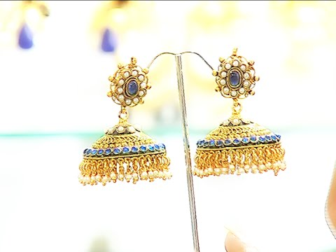 One Gram Gold Jewellery - Earrings and Vaddanam
