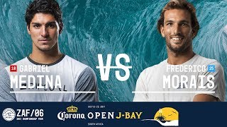Gabriel Medina takes on Frederico Morais in Heat 1 of the Semifinals at the 2017 Corona Open J-Bay. #WSL #jbay Subscribe to...