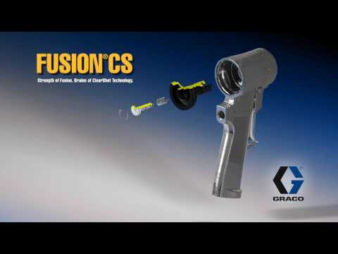 Graco Fusion CS Spray Gun Short Training and Parts Assembly Animation