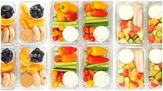 Healthy Meal Prep Snack Boxes | Back to School + Quick + Easy by The Domestic Geek