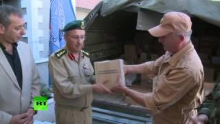 Российские военные передали госпиталю в Латакии три тонны медикаментов