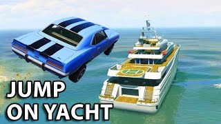 Nonton GTA V - 2 Fast 2 Furious Jump on yacht Scene Film Subtitle Indonesia Streaming Movie Download
