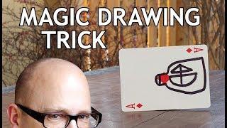 LEARN MAGIC DRAWING CARD TRICK!