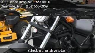 9. 2017 Honda Rebel 500  for sale in Greenville, NC 27834 at Ro