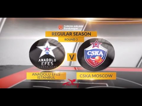 EuroLeague Highlights RS Round 3: Anadolu Efes Istanbul 87-93 CSKA Moscow