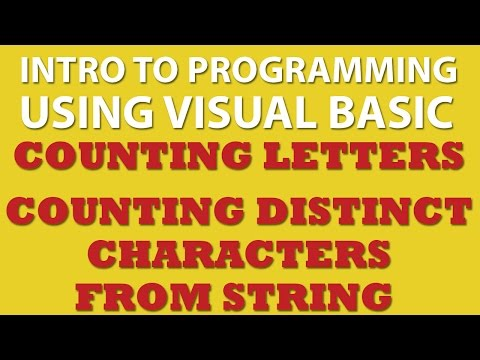 VB.net Programming Challenge: Letter Counter – Counting Characters in String (vb.net char Arrays)