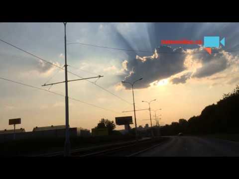 Paprsky slunce za mraky