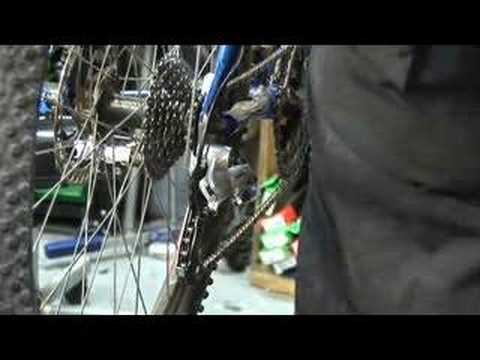derailleur - This tech tip demonstrates advanced rear derailleur adjustments in order to achieve proper shifting.