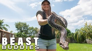 Snake Queen Shares Her Home With 70 Reptiles | BEAST BUDDIES by Barcroft Animals