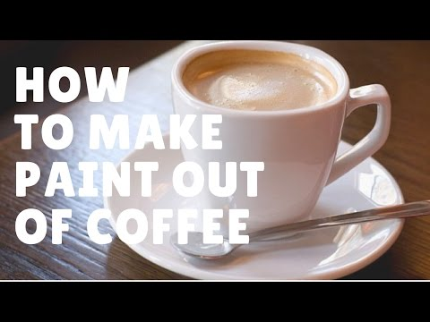 How to mix your coffee into DIY paint for coffeepainting using tea chcolate milk powder and cacoa