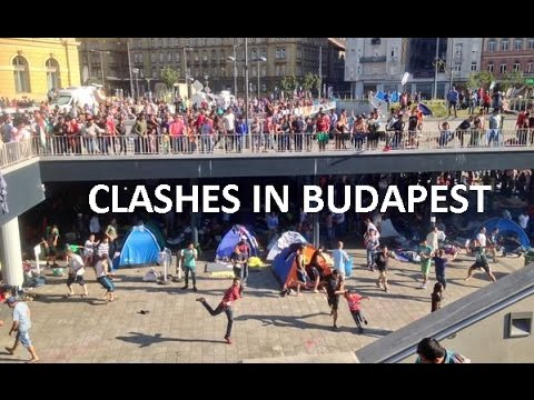 Hoolingans de Hungría ataquan a refugiados sirios