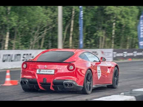 porsche 911 turbo s vs ferrari f12 berlinetta - drag race