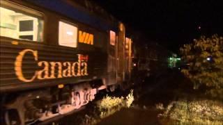 Montmagny (QC) Canada  city images : (Storm) Via # 14/16 at La Pocatière.Qc (station), mile 41.10 Montmagny.Qc SUB.