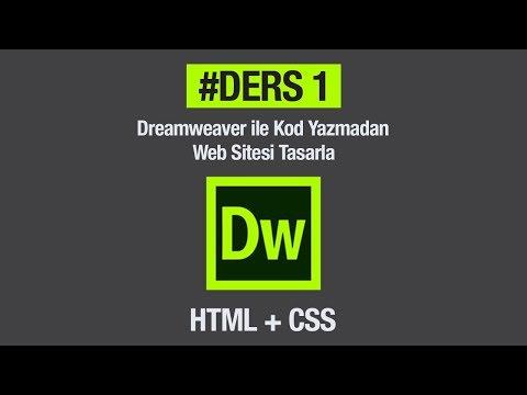 Dreamweaver + Html + Css İle Hiç Kod Yazmadan Basit Bir Web Sitesi Tasarlamak. #Ders 1 Anasayfa